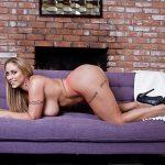 Eva showing her generous curves
